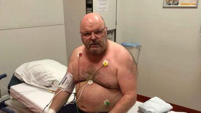 Helse pijnen en bloed in zijn longen: Michel Van den Brande met spoed naar het ziekenhuis