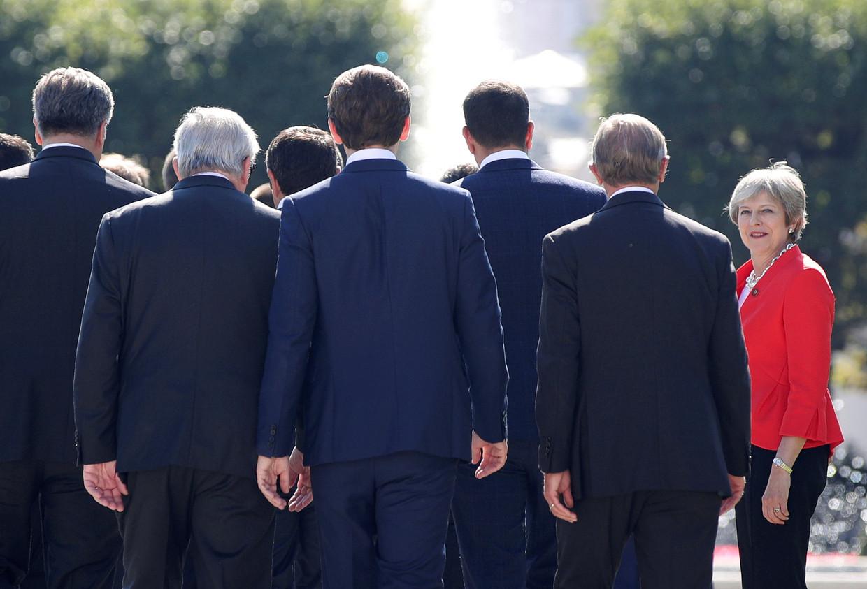Theresa May op de EU-top in Salzburg op 20 september.