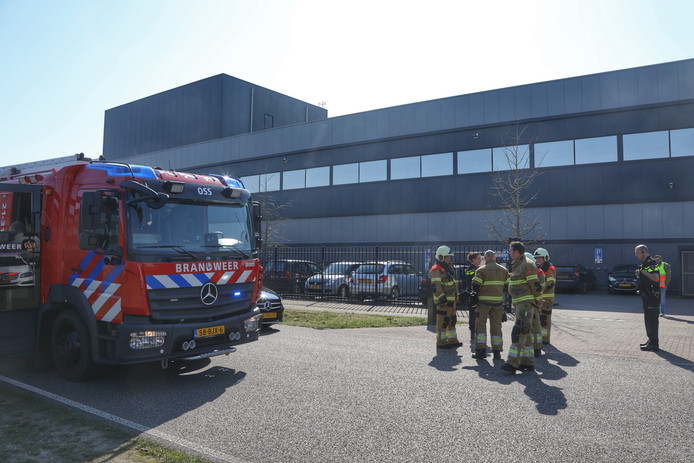 Brand bij AFB International in Oss.