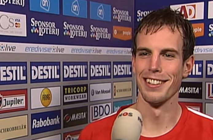 Wout Brama was na afloop blij met zijn goal.