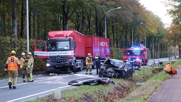 Het ongeval deed zich voor op de Sint Jobsesteenweg in Brasschaat.