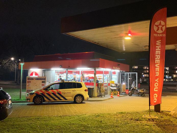 Het tankstation aan de P.C. Hooftlaan werd vrijdag 28 december 2018 overvallen.