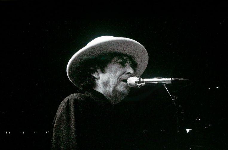 Dylan tijdens een optreden in Indigo begin deze maand. Beeld photo_news