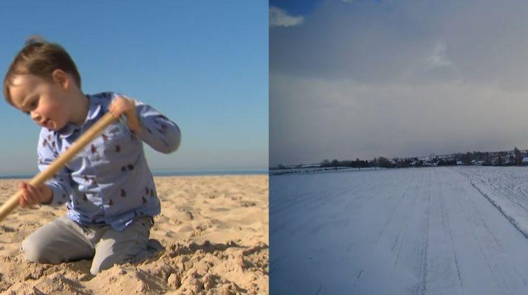 Dit jaar werd het bijna 16 graden, vorig jaar was 25 februari nog een koude sneeuwdag.