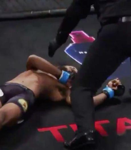 MMA-vechter maakt tijdens profdebuut indruk met snoeiharde knock-out
