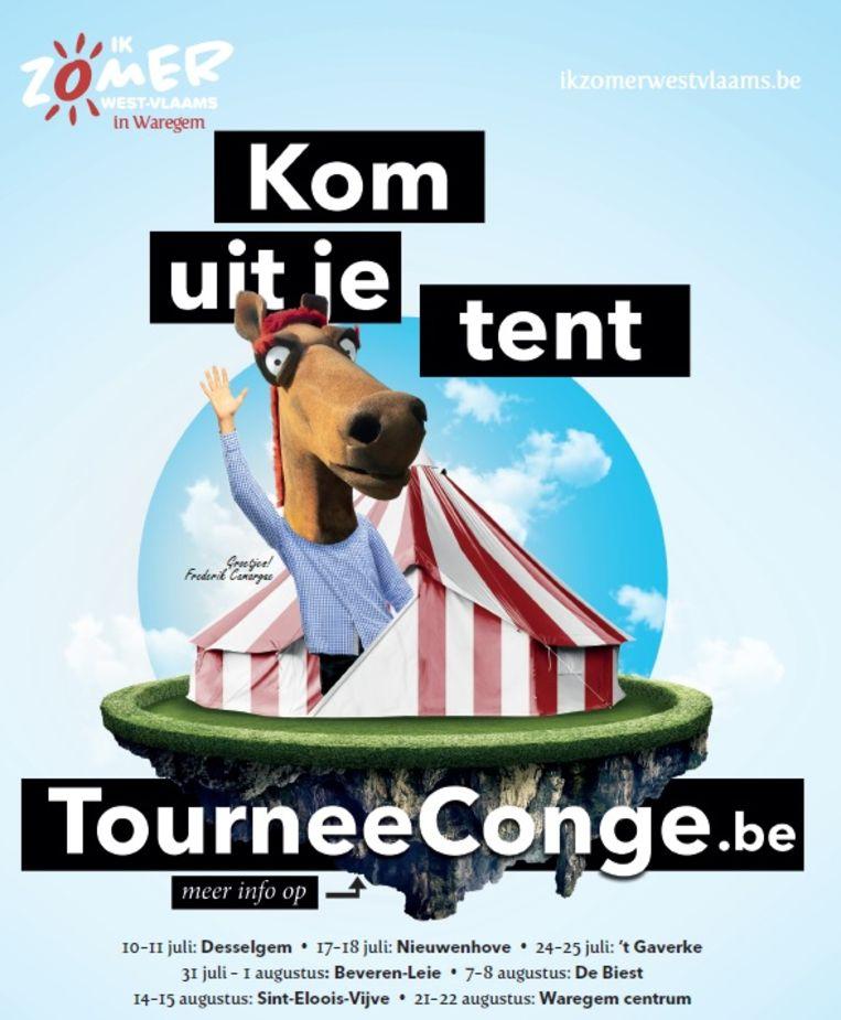Het campagnebeeld van Tournee Congé