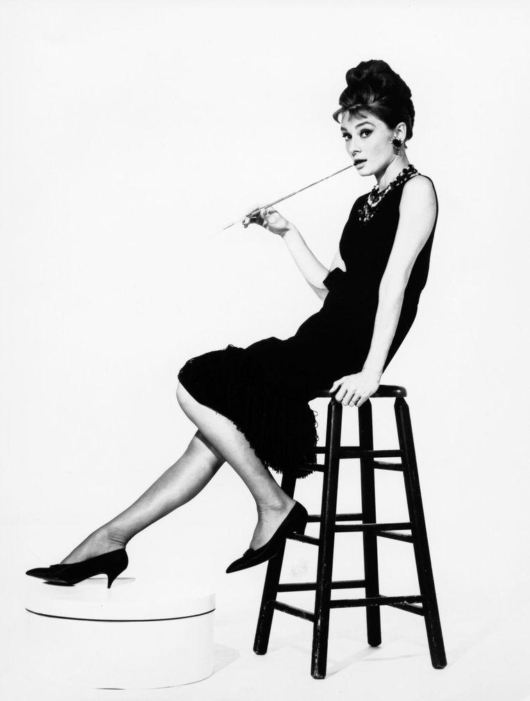 Audrey Hepburn in de film Breakfast at Tiffany`s uit 1961. Beeld null