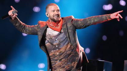 Justin Timberlake wordt genadeloos uitgelachen met zijn bizarre Super Bowl-outfit