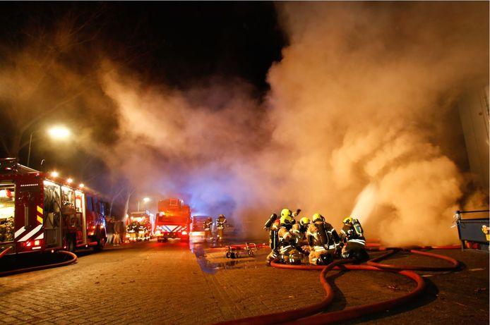 De brand aan de Schrank in Hardinxveld.