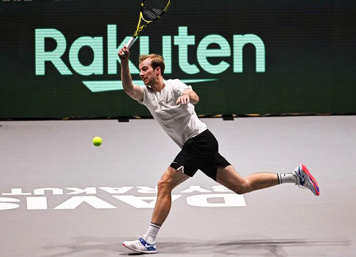 Botic van de Zandschulp op de Davis Cup Finals.