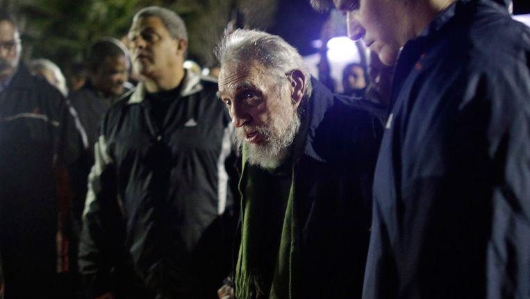 Fidel Castro bij zijn publieke optreden. Beeld Getty Images