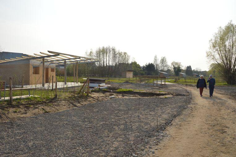 In de loop van mei zouden de gebruikers hun eerste aanplantingen kunnen doen op het volkstuinencomplex Graafland.