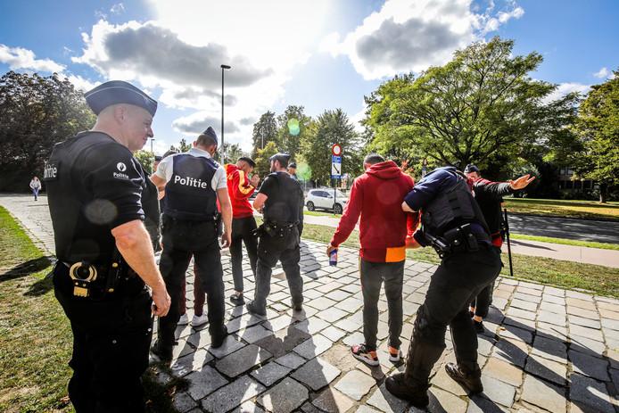 Brugge galatasaray supporters stuiten op veel politiemaatregelen