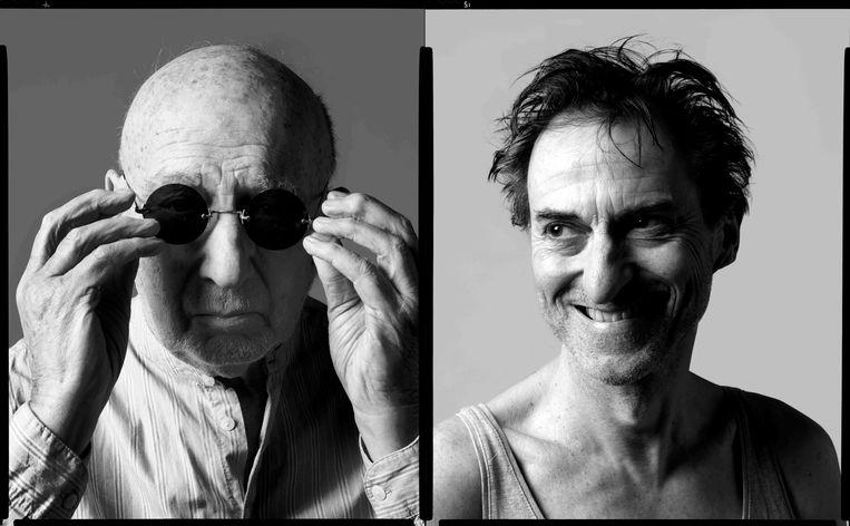 Hans Croiset en René van 't Hof, die respectievelijk de blinde man en diens knecht zullen vertolken in 'Eindspel'.  Beeld Annaleen Louwes