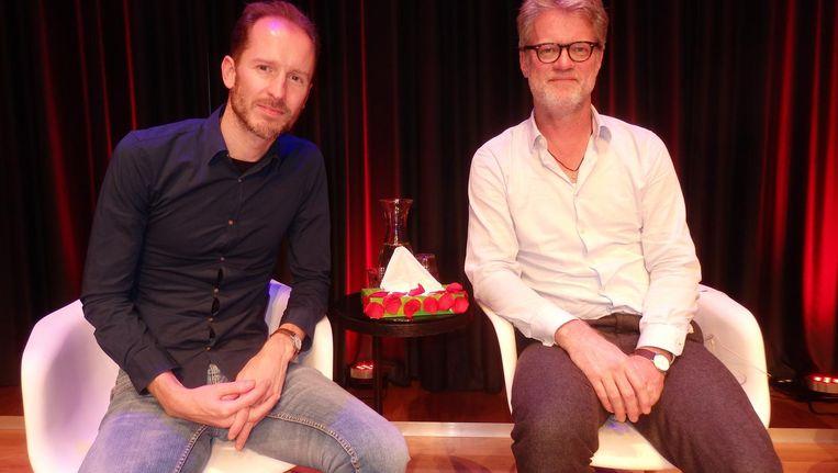 Liefdesverdrietauteur Jan Drost: 'Het is meer dan een amputatie.' En auteur Jeroen van Bergeijk: 'Alles wordt je afgenomen. Je verleden, heden en toekomst' Beeld Schuim