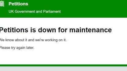 Petitiesite parlement crasht nadat meer dan miljoen Britten vragen in de EU te blijven