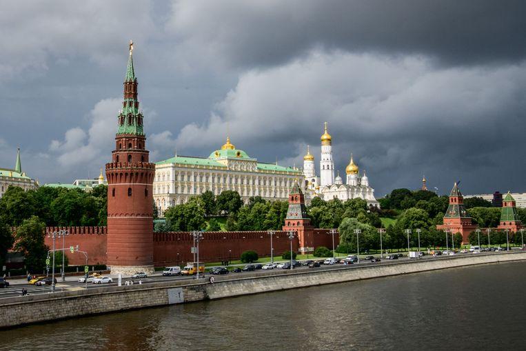 Het Kremlin in Moskou, waar een hooggeplaatste Russische functionaris als spion voor de VS gewerkt zou hebben. Beeld AFP