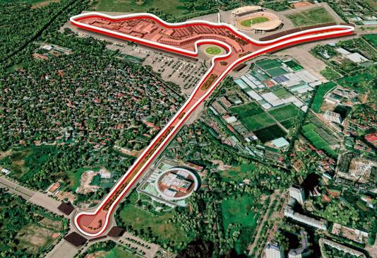 Het stratencircuit in Hanoi