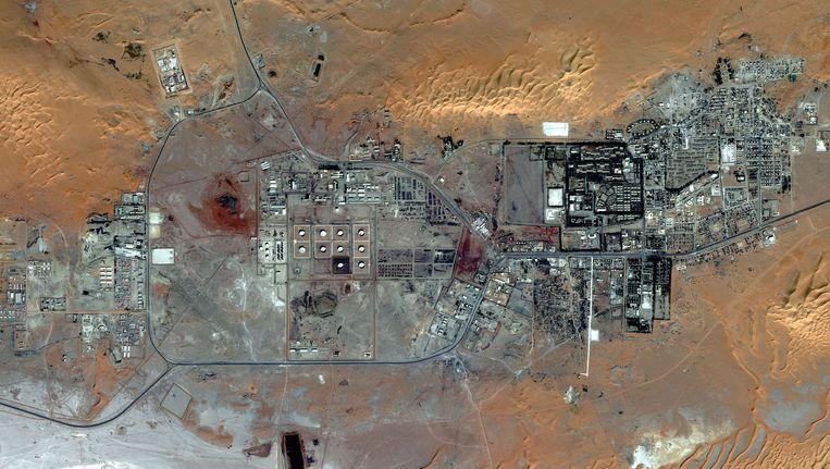 Satellietbeeld van de gassite van In Amenas.
