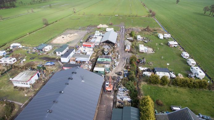 Een luchtfoto van camping Wildzicht in Leersum. Foto: Koen Laureij