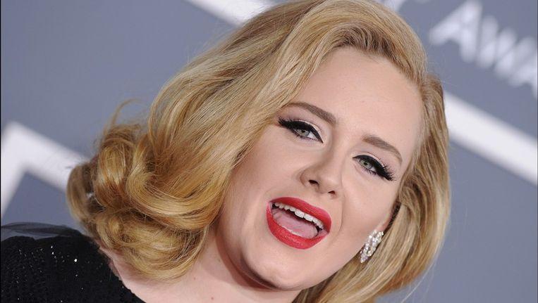 Adele gisteren tijdens de Grammy Awards. Beeld photo_news