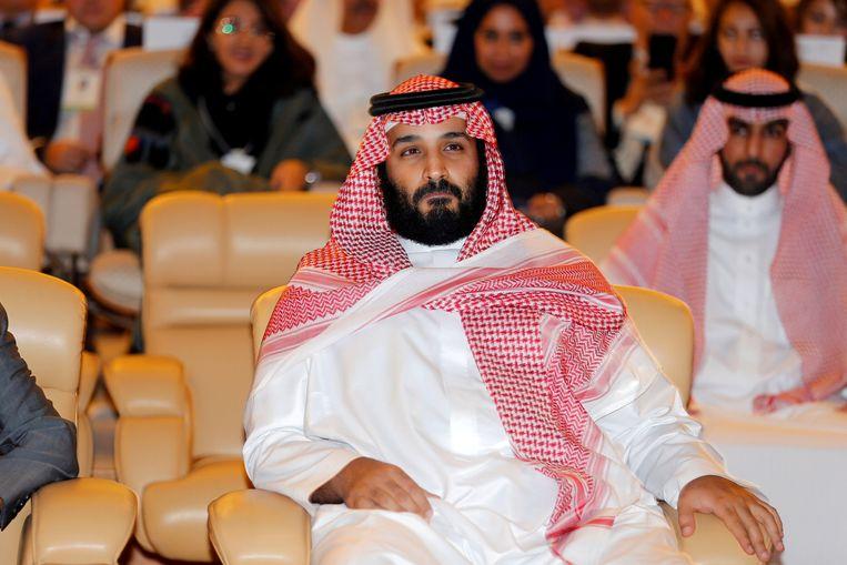Mohammed bin Salman twee weken geleden op een conferentie in Riyad. Beeld REUTERS