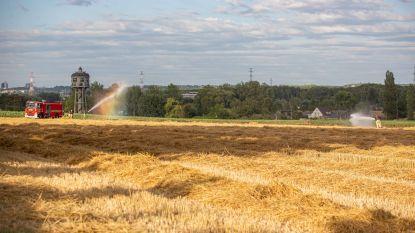Afvalbrand loopt fout: aanzienlijk deel van veld met stro gaat verloren