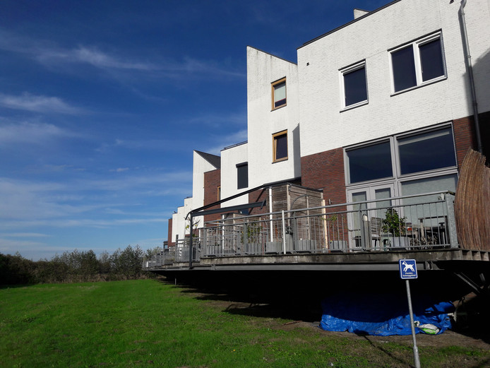 De achterzijde van een deel van de woningen aan Het Kanteel. Het Kanteel ligt aan de rand van de wijk Landgoed Driessen en is volgens de gemeente een prima plek voor een faunapaal.