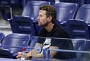 Wim Fissette dans les gradins de l'US Open