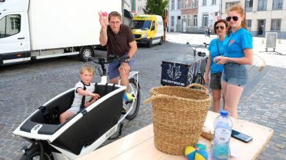 Bakfietsparcours als promo voor bakfietsdelen in autoloze binnenstad