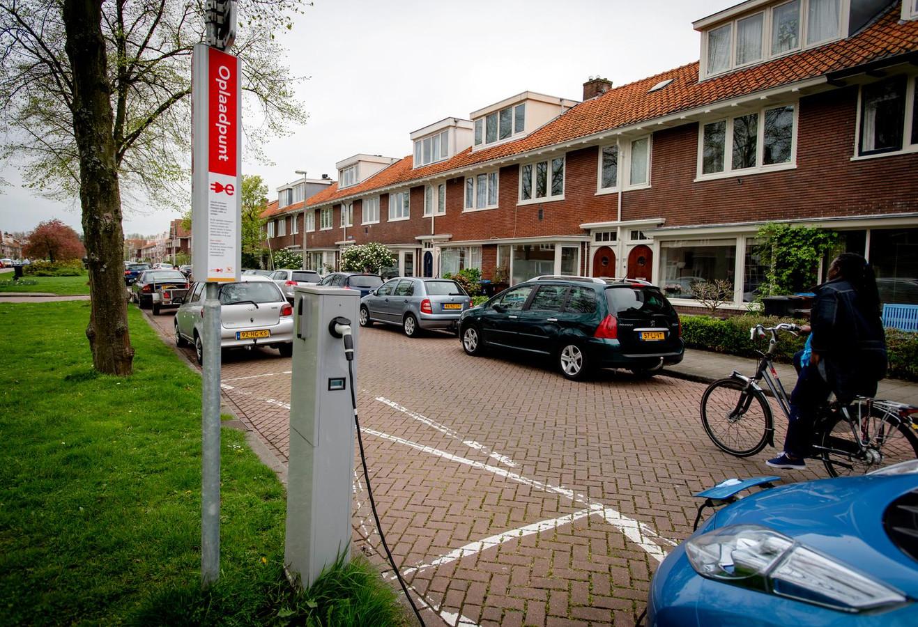 Oplaadpunt voor elektrische auto's in Amsterdam