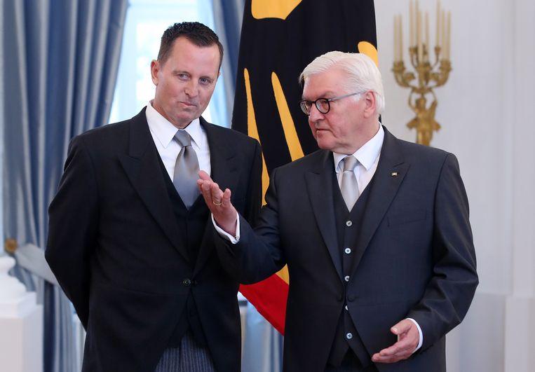 Richard Grenell (links) naast de Duitse president Frank-Walter Steinmeier. Beeld null