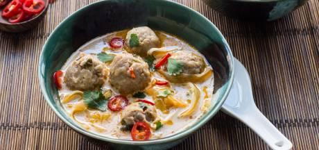Wat Eten We Vandaag: Romige soep met kipgehaktballen