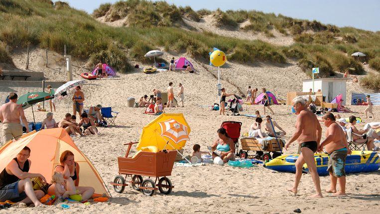 Archiefbeeld van het strand in Bredene.