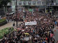 Opnieuw tienduizenden Hongkongers de straat op tegen omstreden uitleveringswet