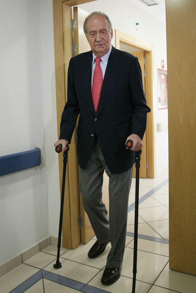 Carlos verliet vandaag het ziekenhuis. Beeld ap