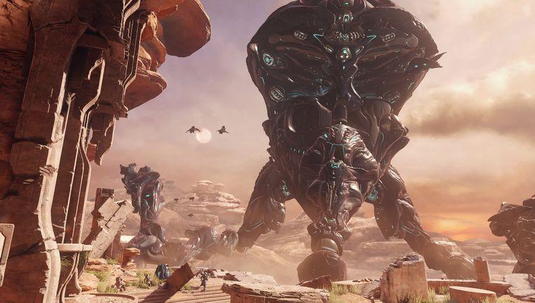 Groot, lelijk en gemeen - tegenstanders komen in allerlei soorten en maten in Halo 5: Guardians. Beeld 343 Industries