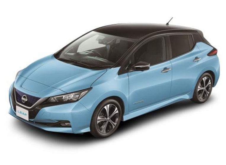De Nissan Leaf kan ook stroom terugleveren. Beeld