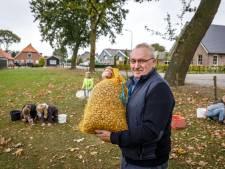 Jeugd Staphorst raapt massaal eikels voor zakcentje
