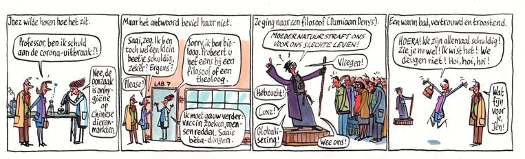 Pieter Geenen maakte eerder deze maand voor Trouw deze cartoon. Beeld Pieter Geenen