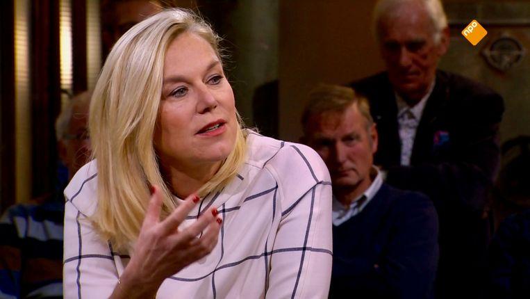 Minister Sigrid Kaag in Buitenhof. Beeld