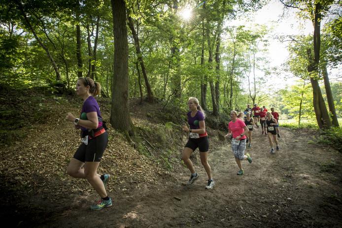 De eerste Smokkel Trail door het fraaie natuurgebied.