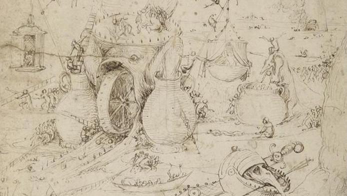 De ontdekte tekening van Jeroen Bosch.