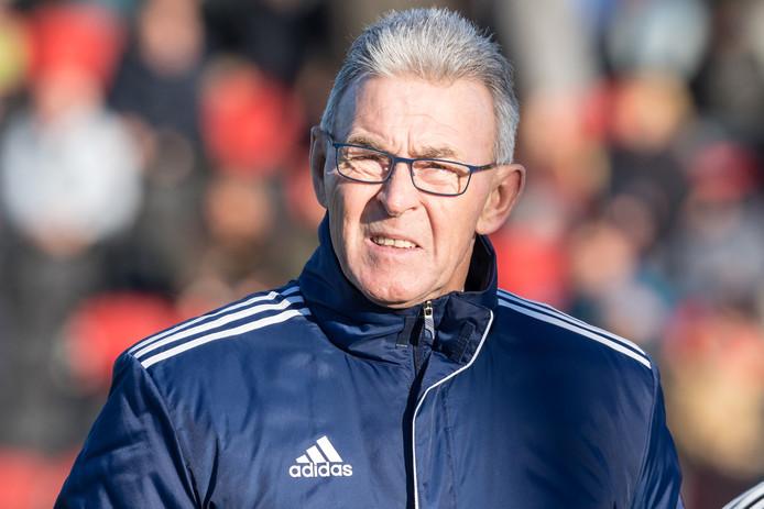 Frits van den Berk was niet blij met het optreden van Mike Klaare (assistent scheidsrechter).