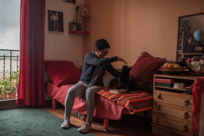 Ilka Salgado, een migrant uit Honduras, week uit naar Barcelona.  Beeld Maria Contreras Coll