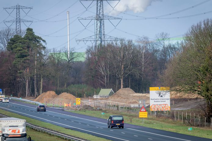Aanleg ecoduct over A35 .