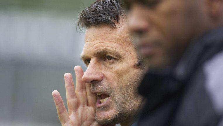AFC-trainer Cor ten Bosch: ''We leven al een paar weken op een roze wolk. Dit verlies komt wellicht op het juiste moment.'' Foto Marcel Israel Beeld