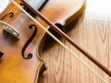 Een viool voor vijf euro? Te koop bij de voormalige muziekschool in Dieren