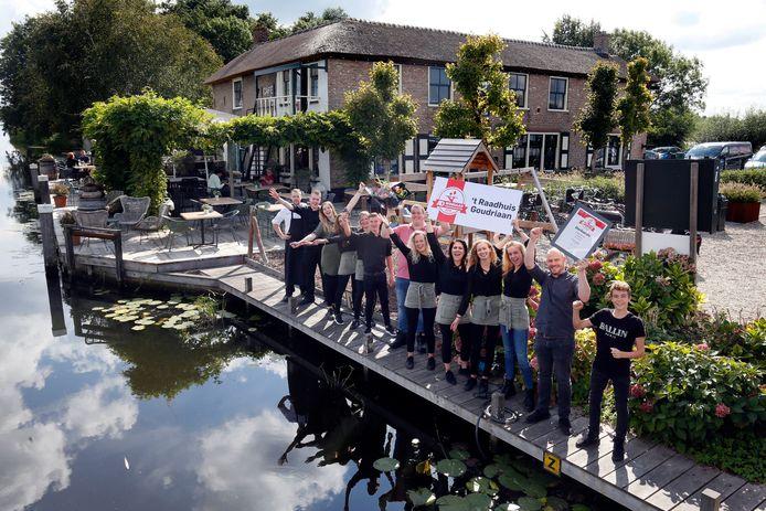 't Raadhuis in Goudriaan wint de Terrassentrofee.