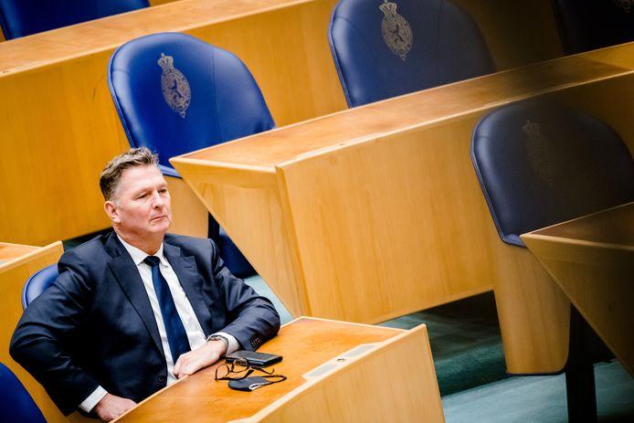 DEN HAAG - André Bosman (VVD) in de Tweede Kamer tijdens het wekelijks vragenuur.